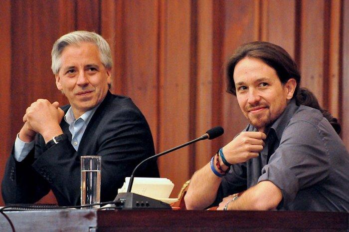 García Linera y Pablo Iglesias