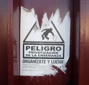 Peligro Privatizar ensino